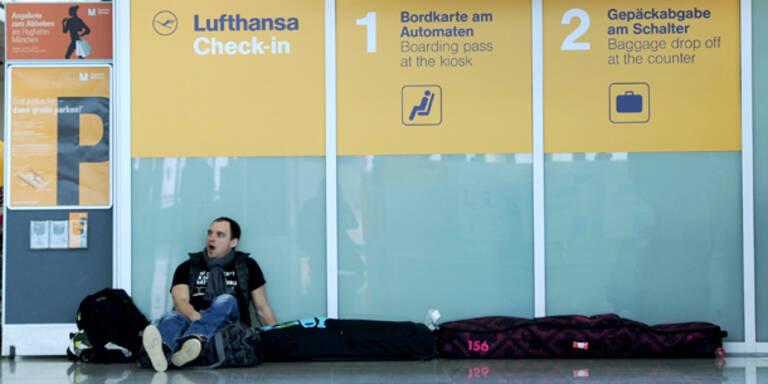 Großstreik legte Lufthansa lahm