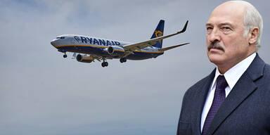 Weißrussischer Präsident Lukaschenko mit Ryanair-Flugzeug