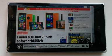 Brandneues Lumia 830 im Test