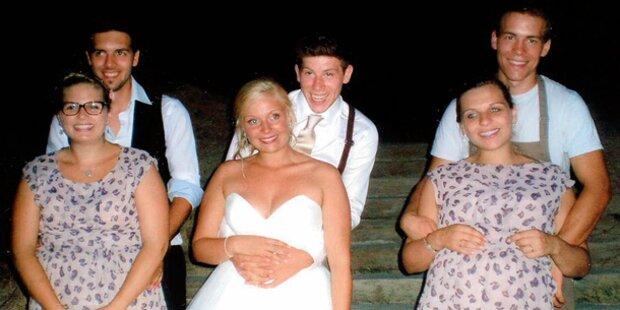 Drei Brüder heiraten drei Schwestern