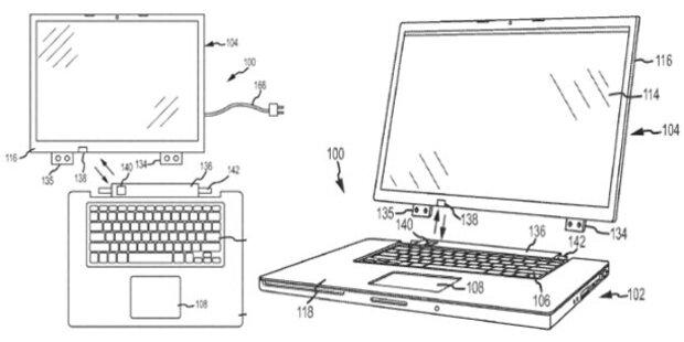 Apple plant MacBook mit Docking-Display