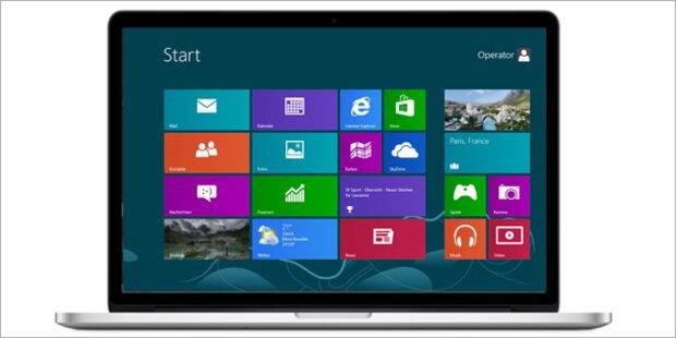 Jetzt kommt Windows 8 auf Mac-Rechner