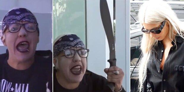 Video: Frau bedroht Kardashians mit Machete