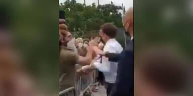 Macron-Watsche: Staatsanwaltschaft fordert 18 Monate Haft