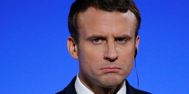 Umfrage-Schock für Emmanuel Macron