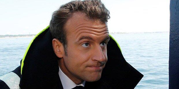 Macron scherzt über Flüchtlingsboote