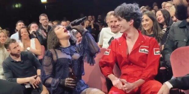 Madonna: Irre Bier-Gurgel-Show