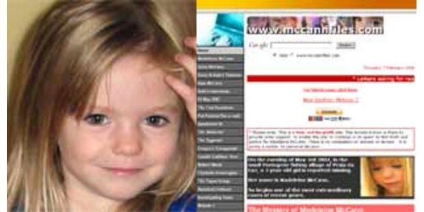 McCanns gehen gegen falsche Maddie-Spenden-Website vor
