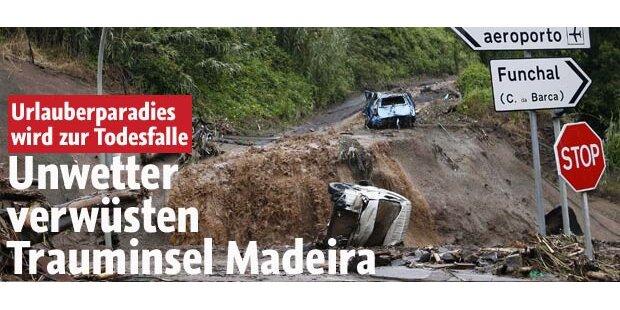 Schon 42 Tote bei Unwettern auf Madeira