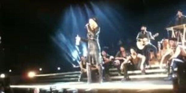 Madonnas wirre Ansprache in Wien