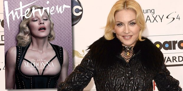 Madonna (56) oben ohne