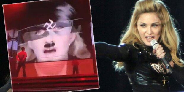 Nazi-Attacke: Madonna-Plakate verunstaltet