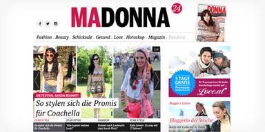 MADONNA startet neues madonna24.at