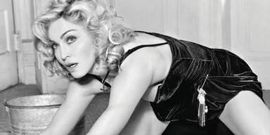 Madonna als scharfe Putzfrau