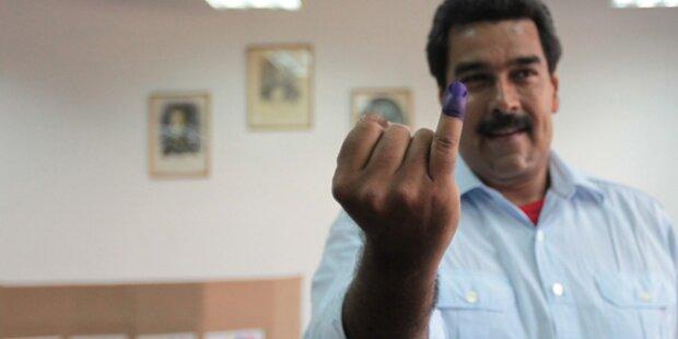 Maduro Sieger der Präsidentenwahl