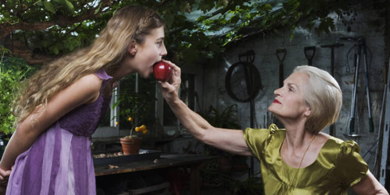 Märchen, Apfel, Oma, Kind
