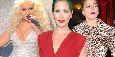 Christina Applegate, Lady Gaga, Christina Aguilera