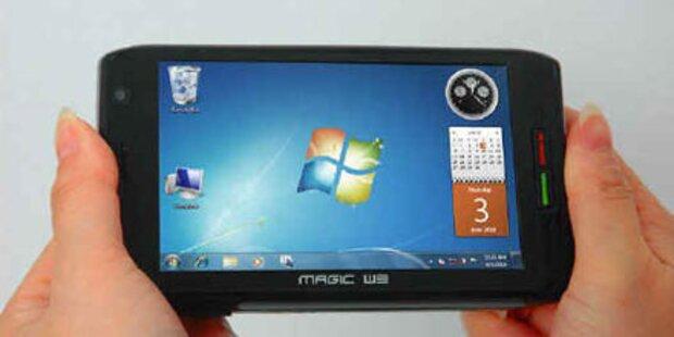 4,8-Zoll Gerät läuft mit Windows 7