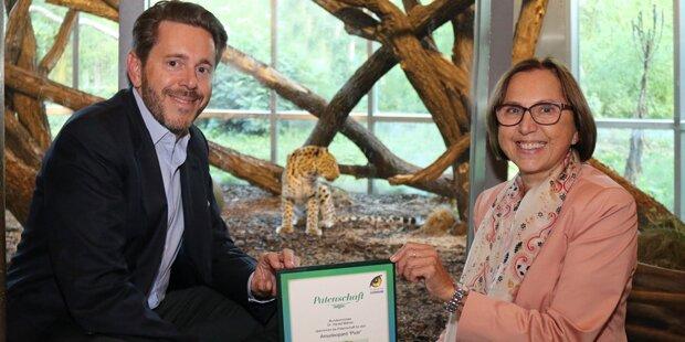 Harald Mahrer übernimmt Patenschaft für Amurleopard Piotr