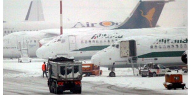Airport Mailand wegen Schnees gesperrt
