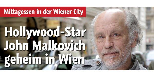 John Malkovich geheim in Wien