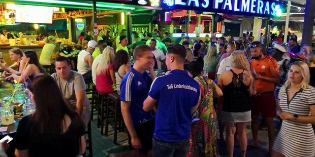 Party ohne Masken und ohne Abstand schockiert Mallorca
