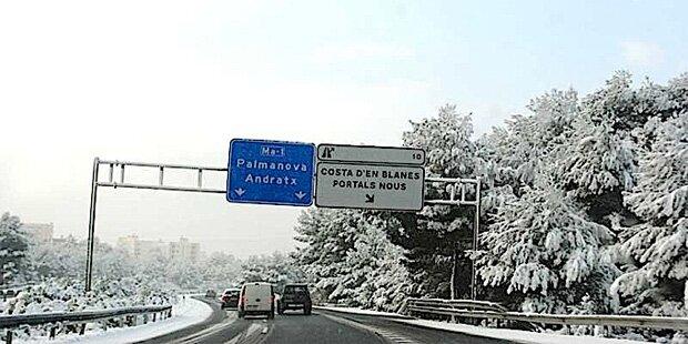 Schneekettenpflicht auf Mallorca