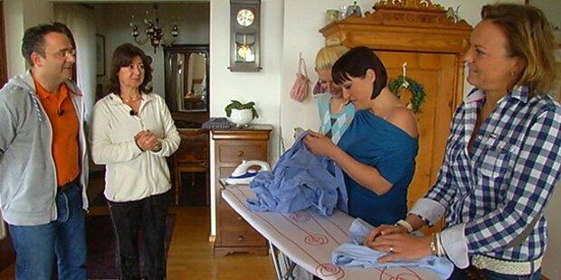 Mama bläst zur Bügel-Challenge