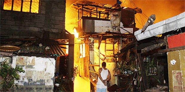 10.000 nach Brand in Manila obdachlos