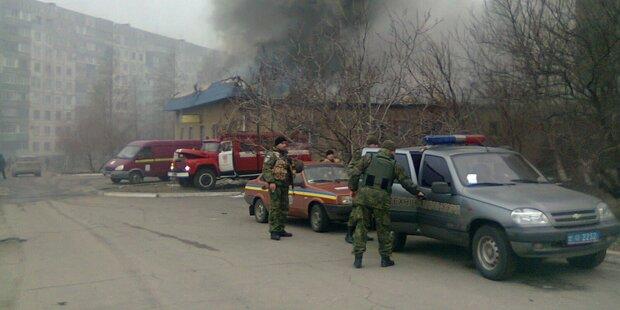 Ukraine: Raketen-Angriff auf Mariupol