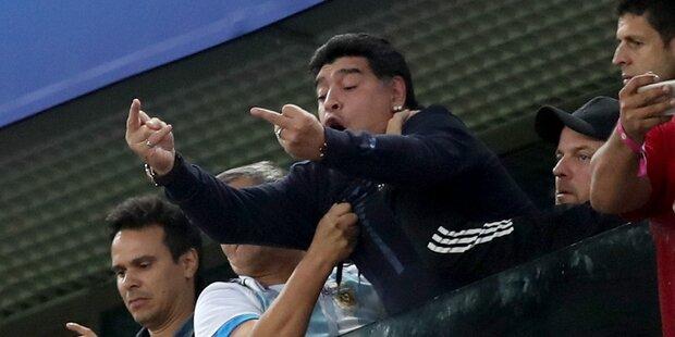 Das sagt Maradona zu seiner Skurril-Show
