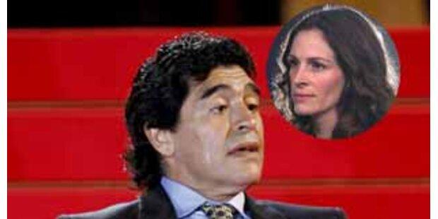 Diego Maradonas heimliche Liebe ist Julia Roberts