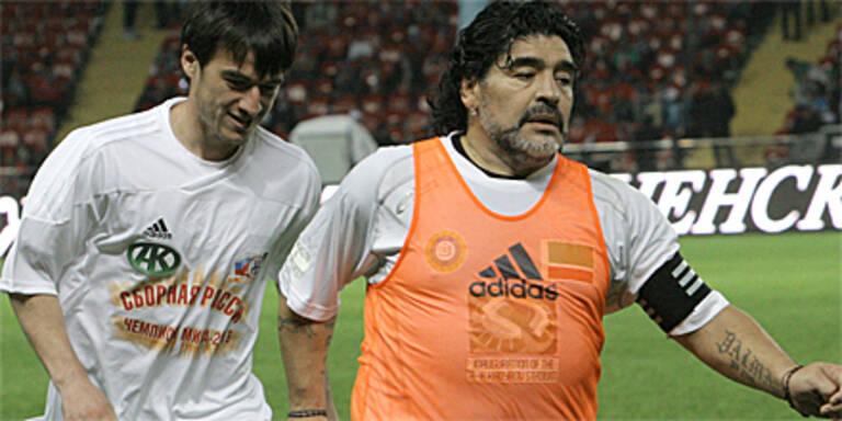 Maradona spielte in Tschetschenien
