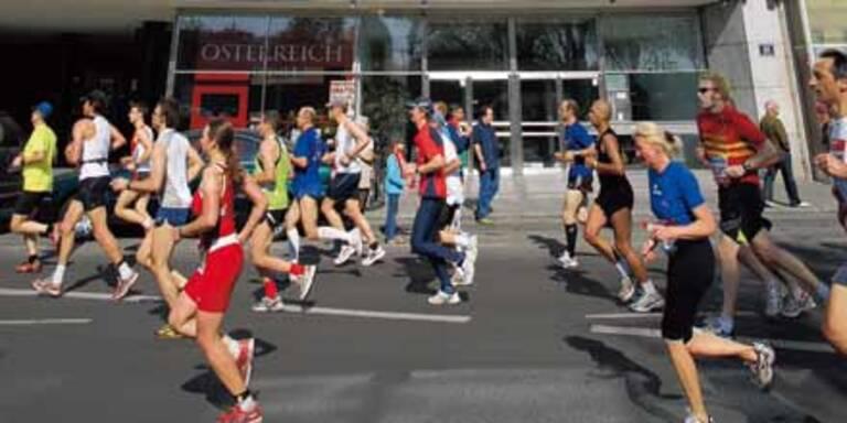 Wien heute ganz im Marathon-Fieber