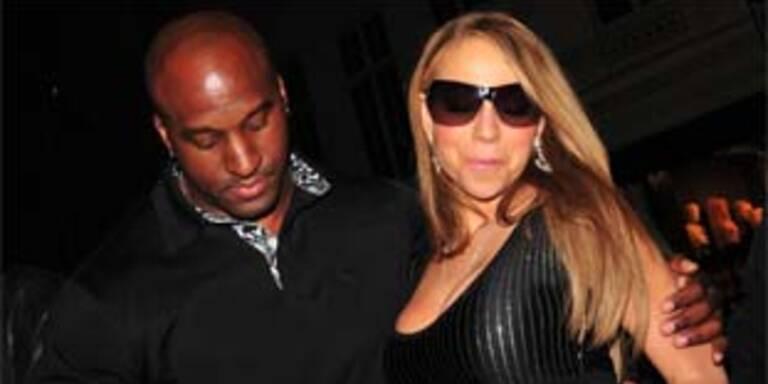 Mariah Carey bei ihrer Ankunft in London