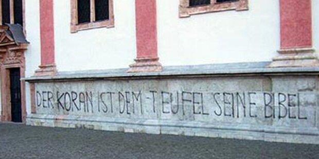 Anti-Islam-Schrift auf Mariazeller Kirche