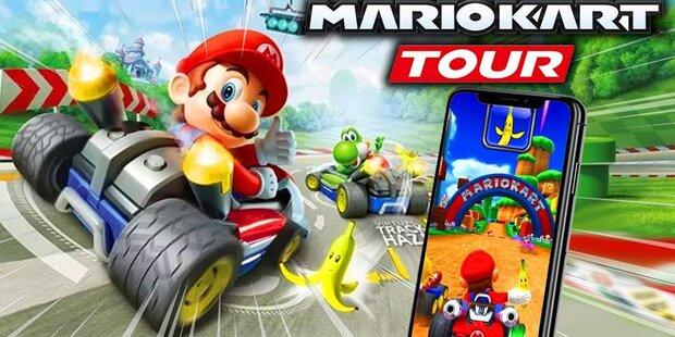 Mario Kart für iPhones und Android-Geräte