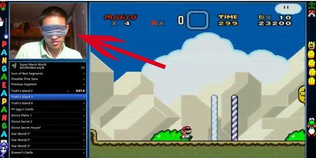 Fan spielte Super Mario blind durch