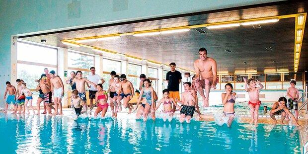 Markus Rogan: Training mit Kids