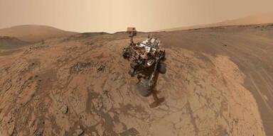 Mars-Rover schießt Panorama-Selfie