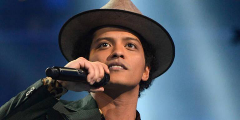 Bruno Mars rockt heute Wiener Stadthalle