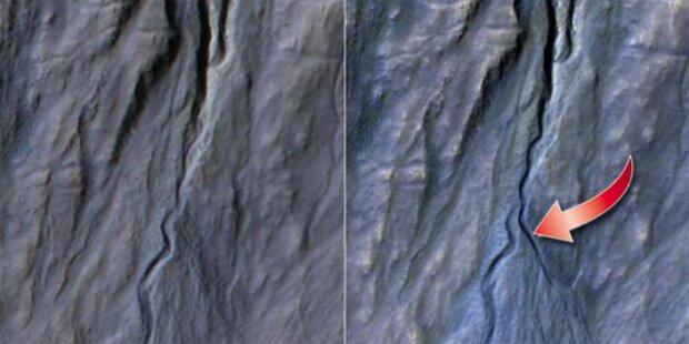 NASA entdeckt neue Schlucht auf dem Mars