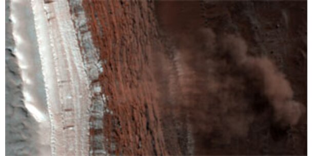 Erstmals Lawinenabgang auf dem Mars fotografiert