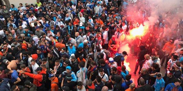 Marseille-Fans zerlegten Gastgarten
