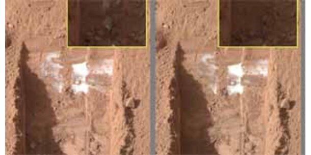 Mars-Eis wird nächste Woche untersucht