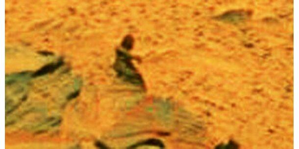Mars-Roboter trifft auf Mars-Männchen