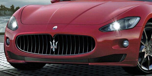 Maserati mit 239km/h auf A5 unterwegs
