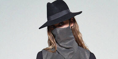Masken-Show bei Fashion Week