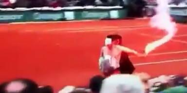Maskierter Mann stürmt French-Open-Final