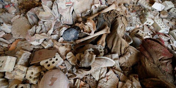 Truppen entdeckten Massengrab bei Falluja
